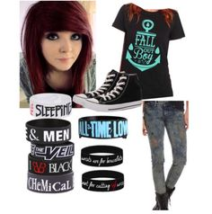 THIS MUST BE A DREAM :'D MY PERFECT STYLE RIGHT IN FRONT OF MEH!!! #Emo #Style