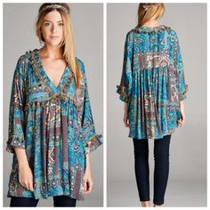 I love the tassel details on this tunic! | Shop this product here: spreesy.com/lovelilacruby/187 | Shop all of our products at http://spreesy.com/lovelilacruby    | Pinterest selling powered by Spreesy.com