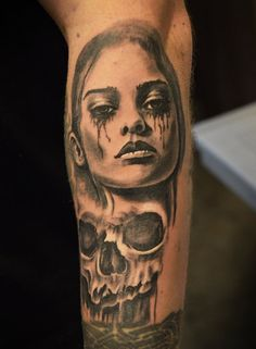 tattoo by Tomek Machon Deviantart, Portrait, Tattoos, Tatuajes, Headshot Photography, Tattoo, Portrait Paintings, Drawings, Portraits