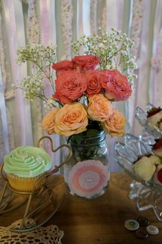 Brynlee's Shabby Chic Birthday Party | CatchMyParty.com