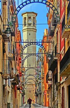"Alcoy (Alcoi in Valencian), Alicante province, Valencia region, during the festival of ""Moros y Cristianos"" (""Moors Christians"") SPAIN Places Around The World, Oh The Places You'll Go, Places To Travel, Around The Worlds, Valencia City, Cities, Monuments, Valence, Spain And Portugal"