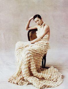 Liu Wen by Daniel Jackson for Vogue China April 2009