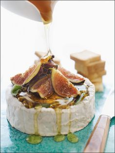 figs & honey over brie