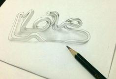 Reprodução feita por Thays Souto Inspirado em arte de Lex Wilson - Love