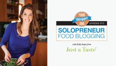 Solopreneur Food Blogging with Kelly Senyei - Food Blogger Pro Blog. When I think of Kelly Senyei, I wonder how in the world one person has done everything she's accomplished. From her degrees in Journalism and culinary school, to working at Food Network, to writing the book on food blogging (literally), Kelly seems to have done it all. Amazingly, she's done all of this on her own, including the monetization, social media, and content management.