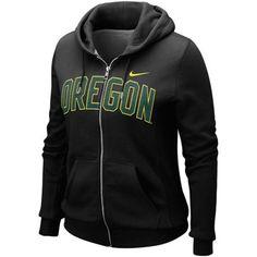 No. 9 - Nike Oregon Ducks Ladies Black University Classic Full Zip Hoodie Sweatshirt