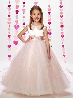 Ivory and blush flower girl dresses macys Birthday Wedding Bridesmaid blush  Flower girl ivory dress  tulle flower girl dress alternative