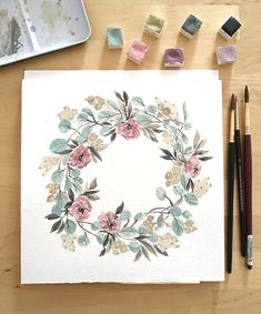 """@whenindoubtwreathitout on Instagram: """"#Repost @mamafabrics ・・・ ...hello hello👋🏻...I forgot to post lately🙈😅...don't know why...mabye because of the autumn🍂🍁🕷🕸...it's cold, rainy…"""" Watercolour Drawings, Watercolour Tutorials, Watercolors, Watercolor Wedding, Watercolor Flowers, Watercolor Art, Wedding Graphics, Shimmer Lights, Color Stories"""