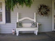 Headboard bench.  :)