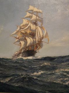 The Clipper Ship Brilliant by Montague Dawson (1895-1973) British Oil on Canvas by mharrsch, via Flickr