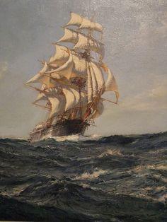 The Clipper Ship Brilliant by Montague Dawson (1895-1973) British Oil on Canvas by mharrsch, via Flickr
