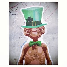 Happy St. Patrick's Day from E.T. As seen at Catalina Coffee