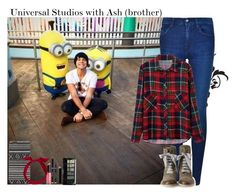 """""""Universal Studios with Ash (brother)"""" by giovannacarlamalik ❤ liked on Polyvore featuring Mikey, Calvin Klein, Revlon, With Love From CA, Brunello Cucinelli, yunotme, Boohoo and NARS Cosmetics"""