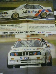 BMW M3 DONINGTON PARK 500KM 1990 POSTER AFFICHE RAVAGLIO ERIC VAN DE POELE RARE Bmw M3, Fiat 600, Carroll Shelby, Sport Cars, Racing, Posters, Couples, Poster Poster, Poster