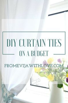 How to Make tie Backs for Curtains - From Evija with Love Quick and easy tutorial
