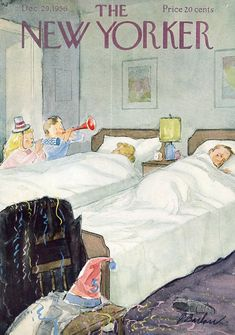 The New Yorker Christmas cover 1956  (Perry Barlow)