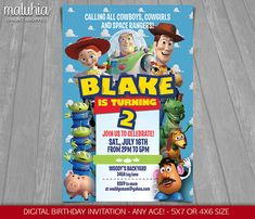 Toy Story Invitations Toy Story Invite Toy Story by MrPartyInvites