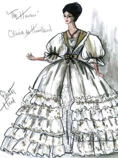 Edith Head sketch for Olivia de Havilland in The Heiress (1949)