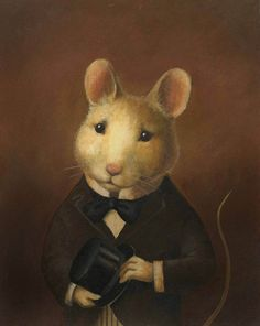 Mouse Portrait from CuriousPortraits #pintura