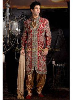 Latest Men's Sherwani Design and styles- Wedding Sherwani Mens Sherwani, Wedding Sherwani, Groom Wear, Groom Outfit, Bride Groom, Groom Dress, Indian Wedding Outfits, Indian Outfits, Wedding Suits