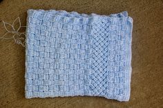 MNE Crafts: A Woven Crochet Baby Blanket. I like this idea.