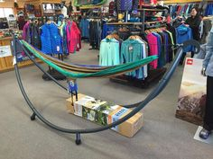 New ENO hammock stand. #georgefrommountainsports #enohammocks #hammock #hammocklife by @geohandy