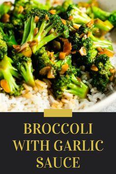 Broccoli With Garlic Sauce, Broccoli Lemon, Quinoa Broccoli, Chicken Broccoli Alfredo, Shrimp And Broccoli, Asian Broccoli, Lemon Chicken, Garlic Recipes, Broccoli Recipes