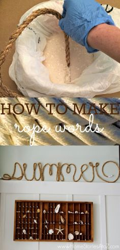 how to make rope words