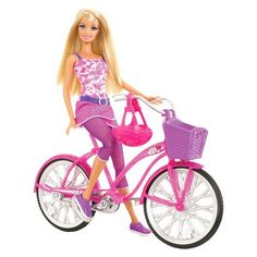 Barbie Glam Bike! Doll and Bicycle Gift Set