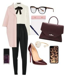 """The Boss"" by petra0710 ❤ liked on Polyvore featuring Dolce&Gabbana, Yves Saint Laurent, Christian Louboutin, Christian Dior, Jil Sander, Delfina Delettrez, Illamasqua, StudioSarah and Givenchy"