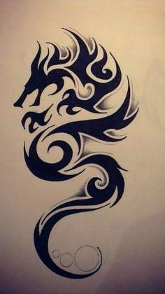 Wonderful Tribal Dragon Tattoo Design Tattoos And Body Art tribal dragon tattoo Neotraditional Tattoo, Tattoo Dotwork, Hawaiianisches Tattoo, Irezumi Tattoos, Tattoo Drawings, Samoan Tattoo, Polynesian Tattoos, Dragon Tattoo Drawing, Tribal Drawings