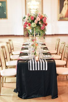 Black and white wedding reception #wedding reception @weddingchicks