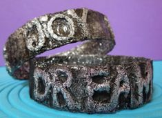 A cool way to express your favorite words! Embossed Water Bottle Bracelets