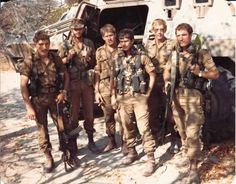61 Mech Bravo Company 1981 JL Potgieter - 2nd from the right KIA 4.11.81 Gone but not forgotten...