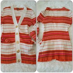 Tory Burch Jeanne Cardigan Gorgeous spring color, ribbed cotton cardigan with front slip pockets. Large golden TB logo buttons. Size Small but Medium fits as well. Perfect condition. Tory Burch Tops