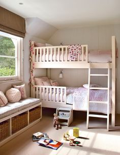 little girls room, kids room, bunk beds