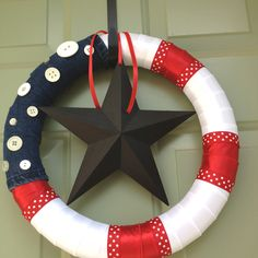 4th of July wreath. I kind of love this.