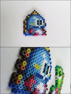 Bubble Bobble Blue Dino bead sprite by 8bitcraft