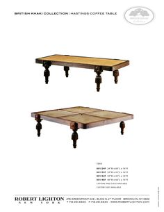 Hastings Coffee Table British Khaki Tables Robert Ri Chard Family Room