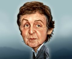 Dibujos y caricaturas de famosos paul mccartney