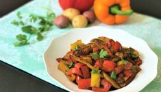 Bell Peppers & Potato Stir Fry (Aloo Simla Mirch) - Instant Pot Pressure Cooker