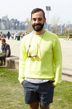 Colorful, Spring-y Looks in Full Effect at the Brooklyn Flea - The Cut  THIS is my neighbor...i LOVE him!