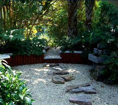 My dream home garden includes dry landscaping like this zen garden.