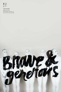 poster / Brave & Generous / lettering