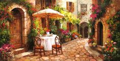 The Art of Paul Guy Gantner Table for two