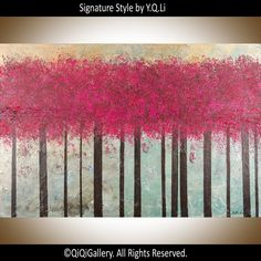 Abstract Modern Wall Art Oil Painting tree painting by QiQiGallery