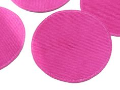 Knieflicken Cord pink Applikation runder Aufnäher von Silwarin auf DaWanda.com
