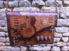 Steampunk gears bag, sac steampunk à engrenages
