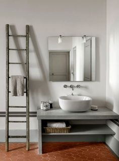 Gray Terra Cotta Bathroom