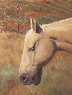 """Portrait of a Palomino"" - Original Fine Art for Sale - © Thomas Marecek"